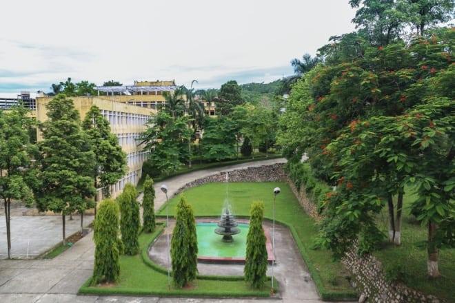 không gian xanh, hồ nước nhân tạo, đại học Lâm nghiệp