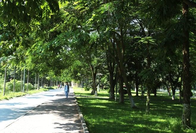 vỉa hè đi bộ, học viện Nông nghiệp Việt Nam