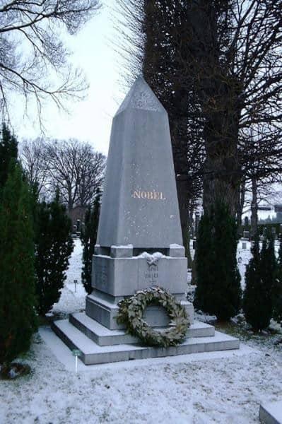 bản di chúc về giải thưởng Nobel, mộ của Alfred Nobel