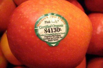 trái cây, biến đổi gen, fruit sticker, GMO