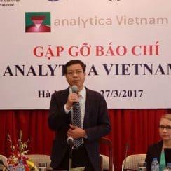 Họp báo Triển lãm quốc tế về Công nghệ Thí nghiệm, Analytica Viet Nam 2017, công nghệ phân tích, công nghệ sinh học, kết nối, giải pháp, khoa học và công nghệ, cung cầu