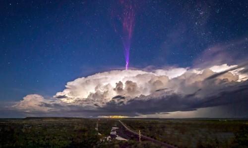 tia sét màu tím, đám mây, khoa học, vũ trụ