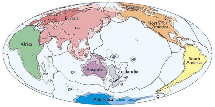 Zealandia, lục địa, trái đất, lục địa thứ 7
