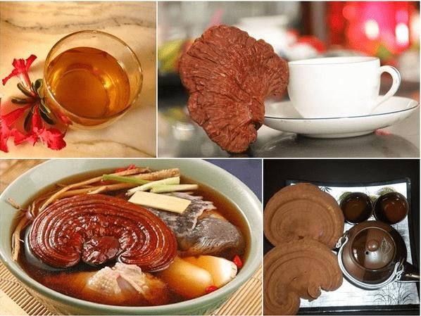cách dùng nấm linh chi đỏ, uống nấm linh chi có đẹp da không, uống nấm linh chi có giảm cân không