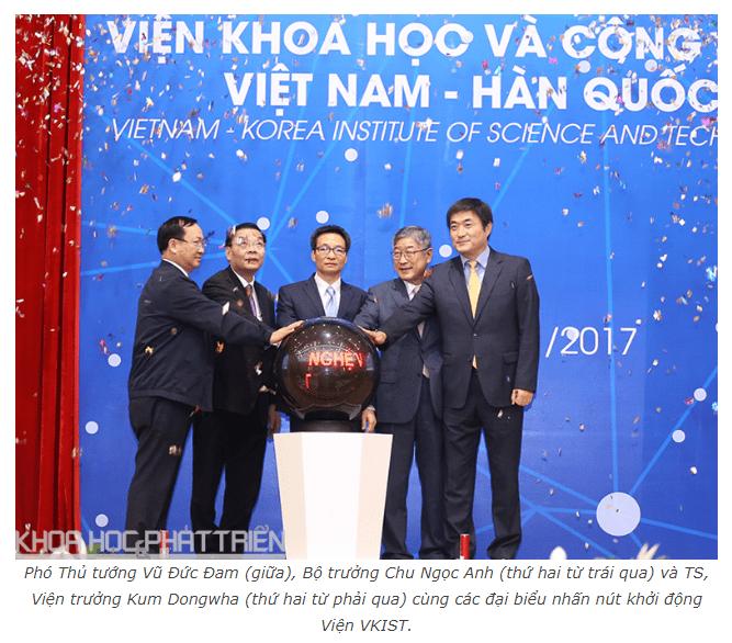 VKIST, Viện Khoa học và Công nghệ Việt Nam-Hàn Quốc
