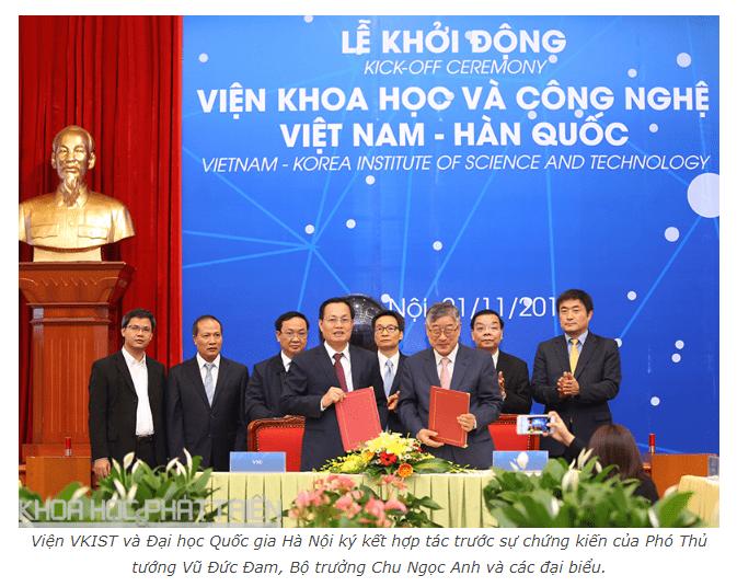 VKIST và Đại học Quốc gia Hà Nội